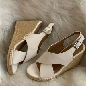 White wedges worn once